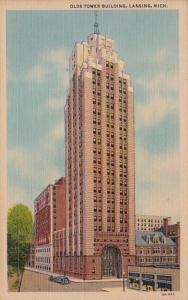 Michigan Lansing Olds Tower Building Curteich