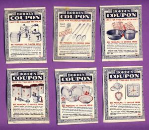 Vintage Lot Of 11 Borden's Coupons, 1960's, All Different