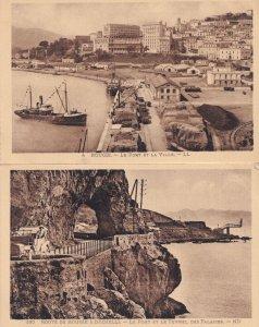 Bougie Algeria Classic Car Chauffeur Fishing Boat Port Et La Ville 2x Postcard s