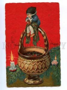 177417 X-MAS Elf Gnom ART DECO by PRALLON Vintage PC
