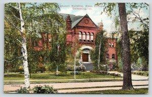 Galesburg Illinois~Knox College~Alumni Building~Birch Tree~c1910 Postcard