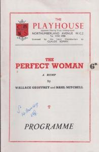 The Perfect Woman Wallace Geoffrey Comedy London Playhouse Theatre Old Programme
