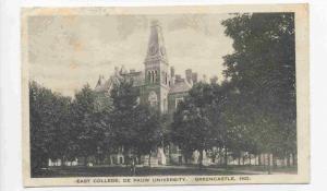 Greencastle, Indiana, PU-1923 ; East College, De Pauw University