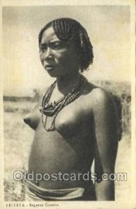 Eritrea African Nude Unused yellowing from age