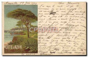 Old Postcard Train Cote d & # 39Azur North and PLM
