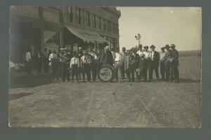 Wall SOUTH DAKOTA RPPC 1914 BAND Parade MAIN STREET Memorial Day nr Rapid City