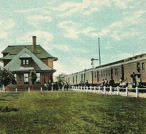 Oregon Short Line Railroad Depot O.S.L.R.R. Caldwell Idaho ID Vintage Postcard
