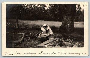 Phoenix AZ~Sis Pans for Gold~Sad Tale~Bad Food~to Bro Paul H Holsinger~1912 RPPC