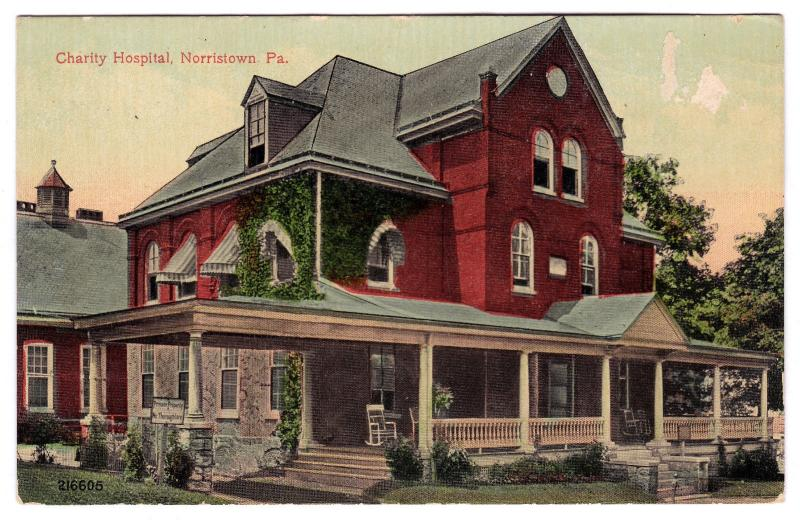 1907-1915 Norristown PA Charity Hospital Building Montgomery Co DB RARE Postcard