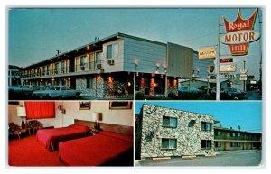 LEWISTON, Idaho ID ~ Roadside ROYAL MOTOR INN 1960s Nez Perce County Postcard