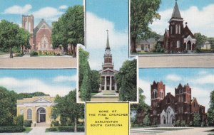 DARLINGTON, South Carolina, 1930-1940s; Some Of The Fine Churches