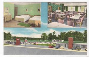 7 Gables Motel Restaurant Lake Cumberland Burnside Kentucky linen postcard