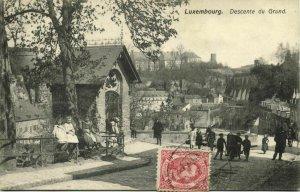 luxemburg, LUXEMBOURG, Descente du Grund (1909) Postcard