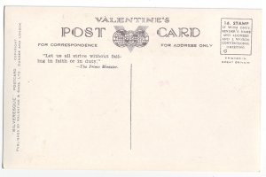 P1244 valentines unused postcard princes street edinburgh england buses cars ect