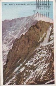 Colorado Pikes Peak Views Of Bottomless Pit From Summit Of Pikes Peak 1925
