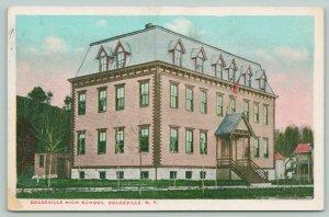 Dolgeville New York~Dolgeville High School~Hello Harry~From Ruth~c1920 Postcard