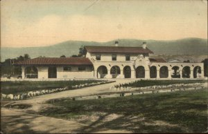 Santa Barbara CA SP RR Train Depot Station c1910 Postcard
