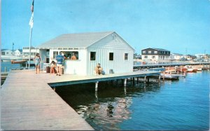 Dewey Beach Delaware Postcard 1960 Pier Rehoboth Bay MG