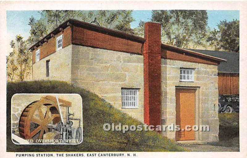 Old Vintage Shaker Post Card Pumping Station East Canterbury, New Hampshire, ...