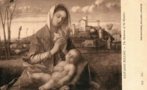 London National Gallery The Madonna Of The Meadow Giovanni Bellini Postcard
