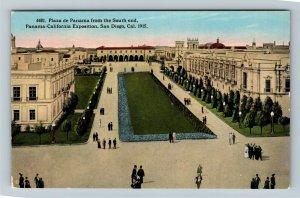 1915 Panama-California Exposition - Plaza de Panama from South End - Postcard