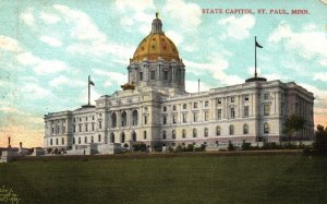 St. Paul, Minnesota, MN, State Capitol, Unused Divided Vintage Postcard g8453