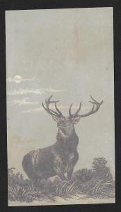 VICTORIAN TRADE CARD Reed Groceries Male Deer