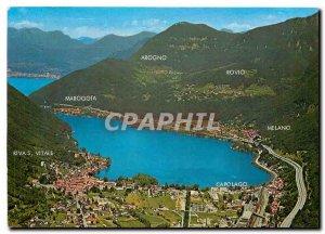 Postcard Modern Riva S Vitale Arogno Maroggia Rovio Melano Capolago