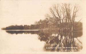 Oelwein Iowa Above the Dam Real Photo Antique Postcard J49644