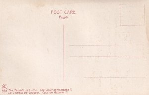 LUXOR, Egypt, 1900-1910s; The Temple Of Luxor, The Court Of Rameses II