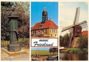 Netherlands Mooi Friesland, Mill Moule Brunnen Fountain Harbour Boats Hafen