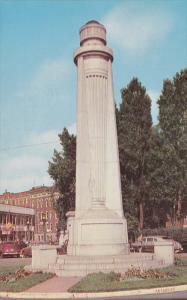 Le Flambeau, Statue of a Torch, TROIS RIVIERES, Quebec, Canada, 40-60's