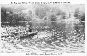 Grand Gorge New York Lake Kill Kare Row Boat Antique Postcard K106655