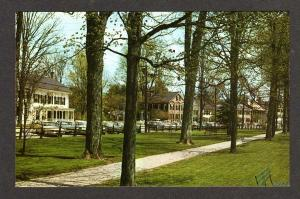 VT View of the Green at WOODSTOCK VERMONT Postcard PC