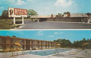 WALTERBORO, South Carolina, 40-60s; Ramada Inn, Parking Lot & Swimming Pool