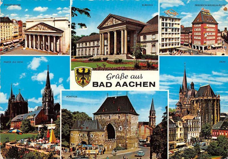 Bad Aachen bad aachen stadttheater kurhaus friedrich wilhelm platz dom ponttor
