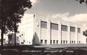 Belmond Iowa~High School Gymnasium~Art Deco~1950s Real Photo Postcard~RPPC