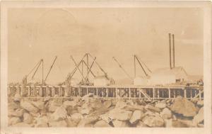 F25/ Fort Stevens Oregon RPPC Postcard 1906 Columbia River Jetty