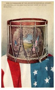 Massachusetts  Drum beaten Battle of Lexington by William Dimond  American Flag