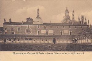 Monumentale Certosa di PAVIA - Grande Chiostro - Carcere di Francesco I , Ita...