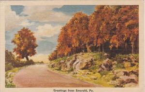 Greetings From Emerald Pennsylvania 1941