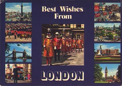 POSTAL 57485: Best Wishes From London