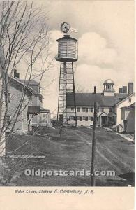 Old Vintage Shaker Post Card Water Tower E Canterbury, New Hampshire, NH, USA...