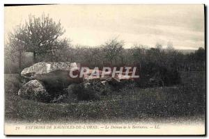 Old Postcard Dolmen Megalith surroundings of Cars & # 39Orne The dolmen of th...