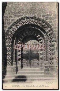 Old Postcard Mortain The collegiate South Portal