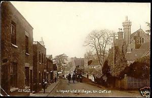 surrey, LIMPSFIELD Village nr Oxted, Street (1915) RPPC