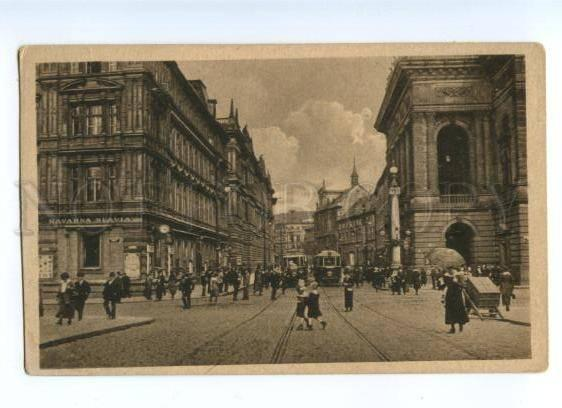 174157 CZECH PRAGUE Rue Nationale Vintage postcard