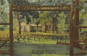 Lakeside Ohio~Methodist Youth Center~Outdoor Chapel in the Woods~1951 Linen PC