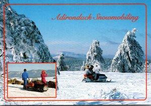 New York Adirondack Mountains Snow Mobiles