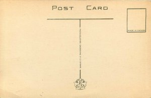 Vintage Postcard Section of Motor Highway Cars on Wasaga Beach Ontario Canada